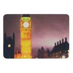 KESS InHouse Westminster at Night by Laura Evans Bath Mat