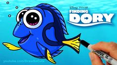 How to Draw Dory step by step Cute from Disney Finding Dory Movie