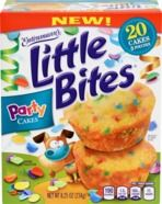 Entenmann's Little Bites has a Party Cake flavor, which would be a perfect party favor or treat to be served at Birthday parties. GREAT in Ice Cream too!  One box of Little Bites Party Cakes is $4.49 (20 muffins in 5 separate pouches).