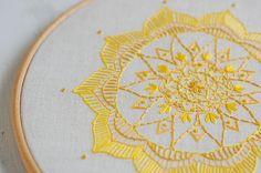 Mandala Embroidery Hoop Art Embroidered Mandala by harperandfinch