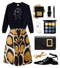 """""""Untitled #59"""" by cacacathyyi ❤ liked on Polyvore featuring Giles, Paloma Wool, Bally, Givenchy, Rosie Assoulin, Barry M, MAC Cosmetics, Forever 21 and NARS Cosmetics"""