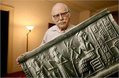 In 1849, Austin Henry Layard discovered 22,000 clay tablets in the Ancient Sumerian city of Nineveh, Iraq. The tablets contain cuneiform script, created by the Sumerians 6,000 years ago. The Ancient drawings include Neptune,Uranus & Pluto - planets not known by modern peoples until 1846, 1781, & 1930 respectively & describe the earth rotating around the sun. © Z. Sitchin Reprinted with permission.