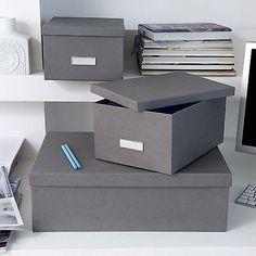 25x34x14 cm 26x37x15 cm  Gray, Dark Gray, White, Dark Blue Ulrika Bingso Inge on top 23x29x15 cm, 31x47x15 cm White, Dark Grey, Grey