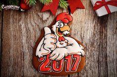 Christmas Cockerel Новогодний петушок #Christmas, #gingerbread #rooster…