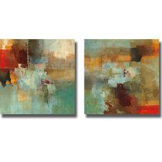 Randy Hibberd 'Big City I and II' 2-piece Canvas Art Set | Overstock.com Shopping - The Best Deals on Canvas