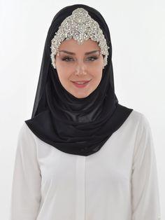 Ready to wear hijab, Cross Practical Shawl Chiffon, Turban, Hijab, Tesettur, Shawl, CPS-0036 Black by MelikesDesign on Etsy