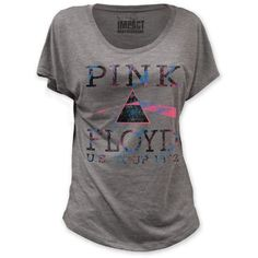 135cb97c This women's grey vintage Pink Floyd concert dolman tshirt is from the  Progressive Rock band's US