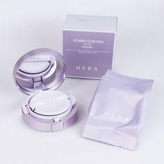 Hera NUDE UV Mist Cushion Hair Routine, Korea Makeup, Missha, Face Skin, Makeup Tools, Foundation, Perfume Bottles, Cushions, Nude