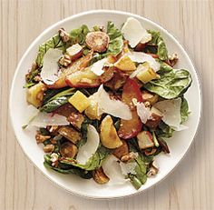 Roasted Parsnip, Potato and Apple Salad with Walnuts