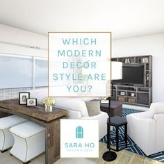 Take this quiz to find out what your Modern interior design style is! Whether it be: Modern Farmhouse, Mountain, California or another modern decor style. Eclectic Decor, Eclectic Modern, Modern Bohemian, Modern Art Deco, Modern Decor, Contemporary Interior Design, Modern Design, Diy Interior, Bohemian Interior