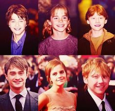 Their first UK Harry Potter Premiere in 2011 vs their last Uk Harry Potter Premiere in Wow. Dolan this is just for you! Harry Potter Games, Harry Potter Actors, Harry James Potter, Harry Potter World, The Hallow, Hogwarts Mystery, Ginny Weasley, Katniss Everdeen, The Incredibles