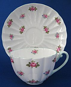 Shelley China Rosebud Cup And Saucer Ludlow Shape