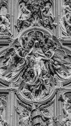 "🏛Architectolder on Twitter: ""Detail of the Doors of Duomo Milano.… "" Catholic Art, Religious Art, Gothic Architecture, Beautiful Architecture, Duomo Milan, Sculpture Art, Sculptures, Milan Cathedral, Empire Romain"