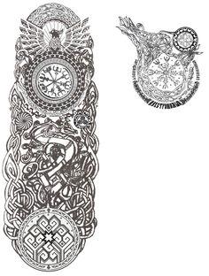 Slavic Caucasus Norse Germanic Celtic Ocean tattoo by Kara-ALVAMA