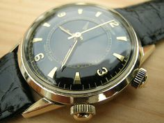 Vintage Jaeger LeCoultre Memovox Wrist Alarm For Sale in UK | Vintage Watches