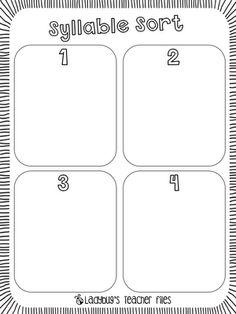 1000 ideas about syllables kindergarten on pinterest syllable kindergarten worksheets and. Black Bedroom Furniture Sets. Home Design Ideas