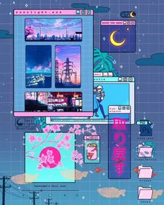 Digital Doodles by Seerlight. Ronald Kuang is an illustrator doing digital doodles and Continue Reading and for more doodles → View Website Vaporwave Wallpaper, Arte Do Kawaii, Kawaii Art, Kawaii Wallpaper, Tumblr Wallpaper, Wallpaper Doodle, Aesthetic Pastel Wallpaper, Aesthetic Wallpapers, Aesthetic Anime
