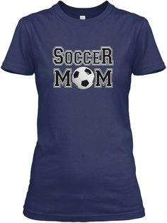Soccer Mom  Proud To Be A Navy Women's T-Shirt Front