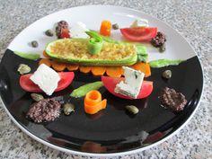 Zucchina  gorgonzola      e verdure   miste   salsa di olive  nere  Gino D'Aquino  (/(/&%&/()(