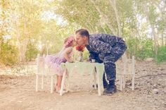 Tea party with daddy. Love this photo idea