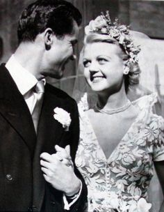 Angela Lansbury and Peter Shaw at their wedding in 1949. The two  were married for 54 years until his death in January 2003.  My love for her is fighting against a bad Murder, She Wrote pun.