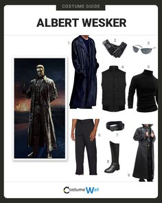 The best costume guide for dressing up like Albert Wesker, the villain appearing in Capcom's Resident Evil video game and movie franchise.