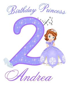 Sofia the First Birthday Shirt -