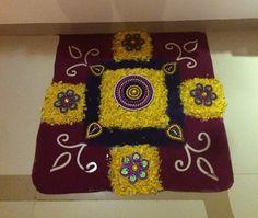Diwali Decorations, Festival Decorations, Diy Ideas, Decor Ideas, Flower Rangoli, Floating Flowers, Flowers Decoration, Indian Gods, Rangoli Designs