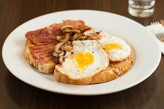 Toasties - Bacon, Mushroom and Egg