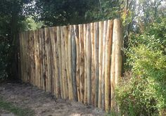 Round wood pole fence Source by ibrunekreeft Eco Garden, Garden Fencing, Home And Garden, Beach Gardens, Outdoor Gardens, Fence Design, Garden Design, Cerca Natural, Country Fences