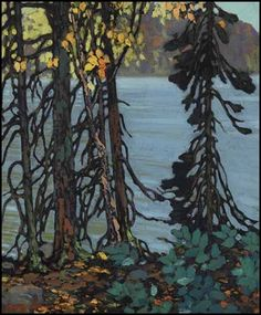 Frank Hans (Franz) Johnston, Canadian Autumn Tangle, c. oil on canvas, 24 x 20 in x private collection, Ontario. Member of The Group of Seven Group Of Seven Artists, Group Of Seven Paintings, Canadian Painters, Canadian Artists, Abstract Landscape, Landscape Paintings, Small Paintings, Art Paintings, Tom Thomson Paintings