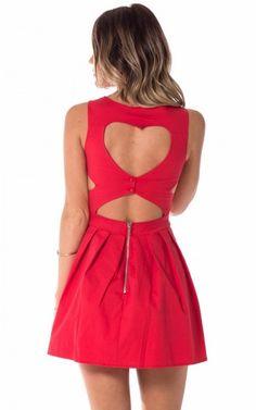 heart shaped dress, cutout heart