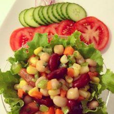 Tasty Tuesdays ~ Fiber-licious Bean Salad ~ Blog http://www.chicmamma.ca/2014/05/tasty-tuesdays-fiber-licious-bean-salad/