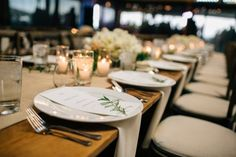Incorporate nature into your wedding design for a delicate rustic look.