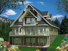 012H-0134: Two-Story Mountain House Plan Enjoys a Nice View