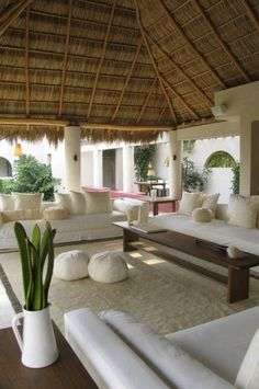 Advanced minimalist living room lighting just on homesable home design Outdoor Rooms, Outdoor Living, Bali House, Bamboo House, Tropical Houses, Tropical House Design, Minimalist Living, Home Design, Home Deco
