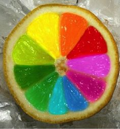 Rainbow Refreshing Lemon. ☺❤🌈