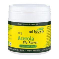 allcura Acerola Bio, Pulver Vitamin C, Coconut Oil, Jar, Face Powder, Cherry, Products, Natural Remedies, Cherries, Jars