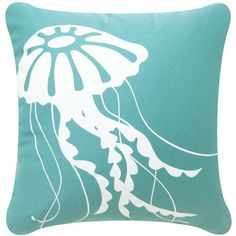 beachy jellyfish throw pillows (maybe grey couch with this color and coral color)