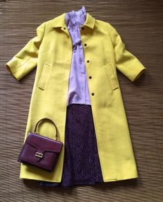 Very stylish and elegant #yellow #wool #coat by #DolceandGabbana. A-line form, 3/4 sleeve, very feminine! Beautiful yellow colour, perfect for #spring.  98% wool, 2% polyamide. Animal print lining. Hidden snap closure.  Excellent condition! £599. #preloved #luxury #fashion #jacket #overcoat #designerlabel