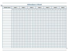 Image Result For Monthly Attendance Sheet For Home Daycare  Home