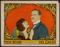 Lobby card for The Cheat (1923)