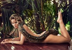 Jennifer Lawrence nude with snake - @vanityfair/Instagram. She is the only one that can pull this off!!!