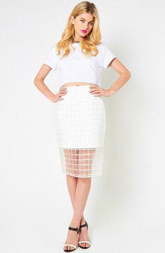 Staple the label Organza Pencil Skirt