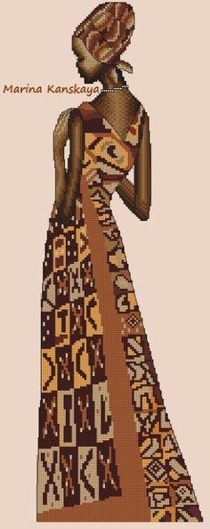 Gallery.ru / Триптих африканские красавицы - ВСЕ МОИ СХЕМЫ - krestiki-noliki