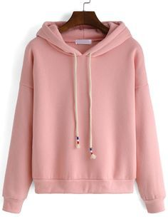 Hooded Drawstring Loose Pink Sweatshirt *** Emily Grace I-/*** Grunge Outfits, Fall Outfits, Casual Outfits, Cute Outfits, Fashion Outfits, Hoodie Sweatshirts, Hoody, Sweat Shirt, Tokyo Street Fashion