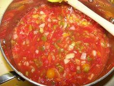 Homemade salsa (canning)