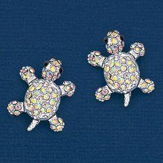 Enchanting Turtle Earrings at www.amerimark.com