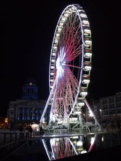 nottingham wheel at night ...