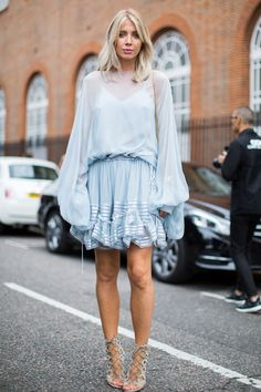 London Fashion Week SS17 Street Style: Day 2 - September 2016